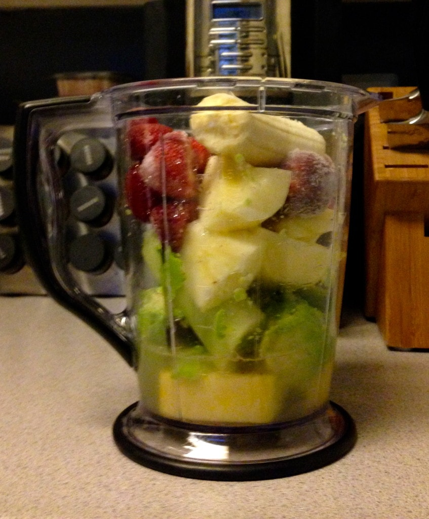 Smoothie with Avocado and Cucumber - ingredients