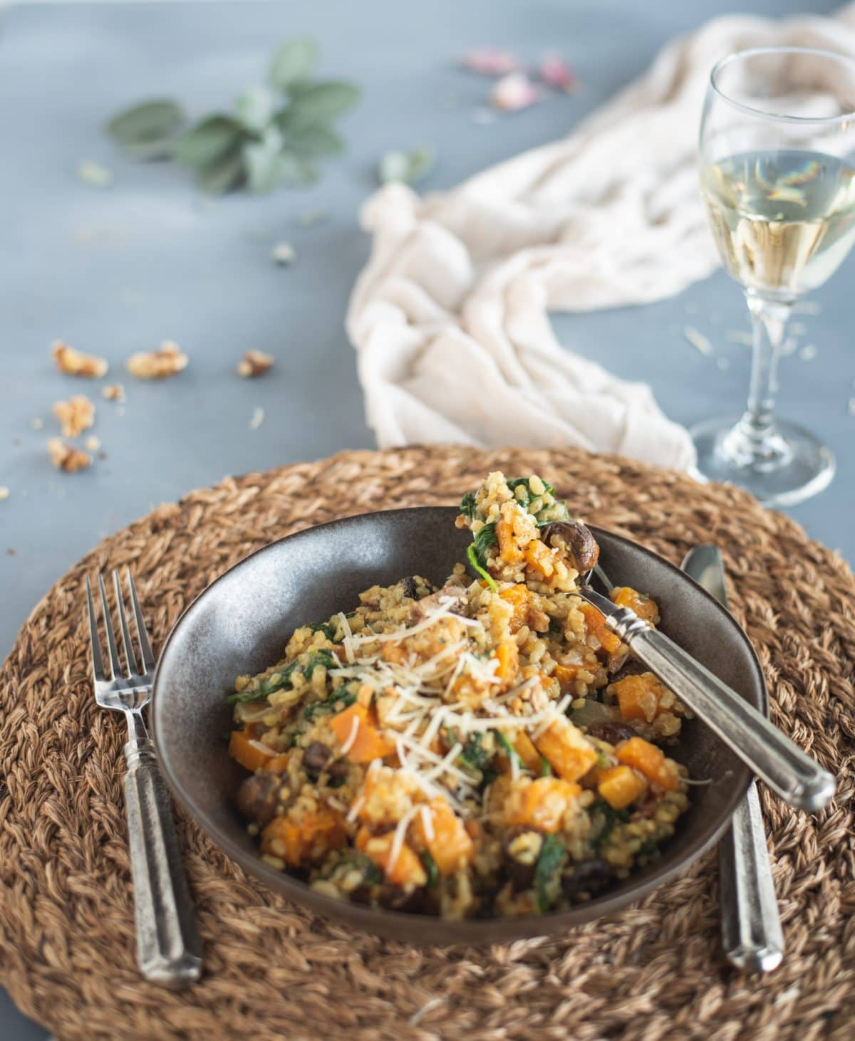 Picture of Brown Rice Risotto with Butternut Squash & Mushrooms