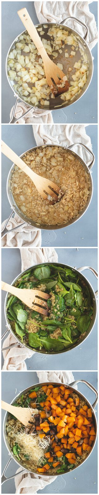 healthy brown rice risotto process steps