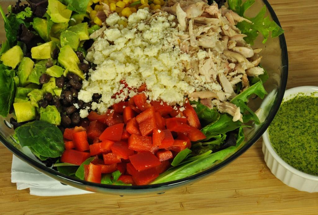 Salad with Jalapeño Lime Dressing-14