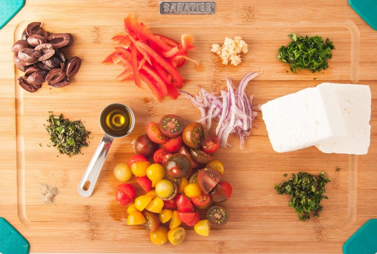 ingredients for baked feta recipe