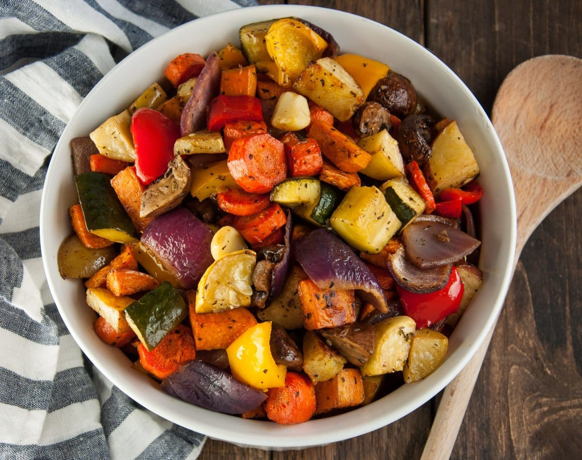 Balsamic Roasted Veggies Feasting Not Fasting