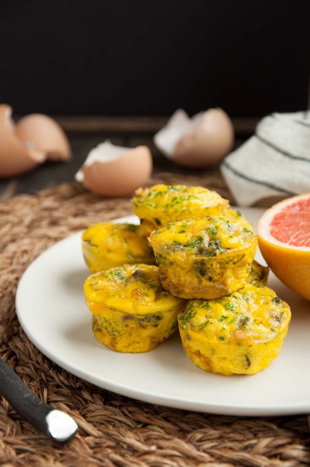 These mini broccoli cheddar egg muffins are just like crustless quiches - fancy but easy as can be! Each one has 7 grams of protein and under 100 calories.