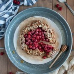 In this tasty galette, tart sour cherries and heart healthy almonds come together in a nutritious whole wheat and almond flour crust for a perfect healthy desert.