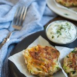 Crispy on the outside and soft on the inside, these zucchini cakes are a tasty way to use that garden produce. The tangy yogurt dill dipping sauce makes these a perfect appetizer.