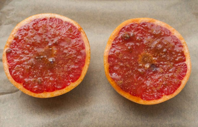 This easy broiled grapefruit recipe is deliciously tart with just the right amount of sweetness to add balance and make this the perfect healthy breakfast, dessert, or snack.