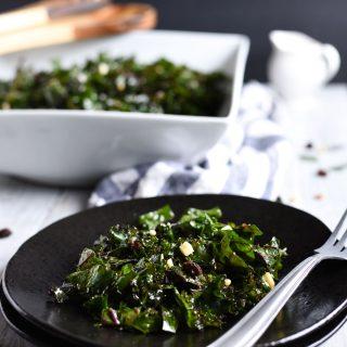 Easy Kale Salad with Apple Cider Vinegar Dressing