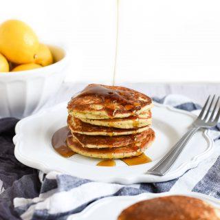 Lemon Poppy Seed Pancakes with Almond Flour