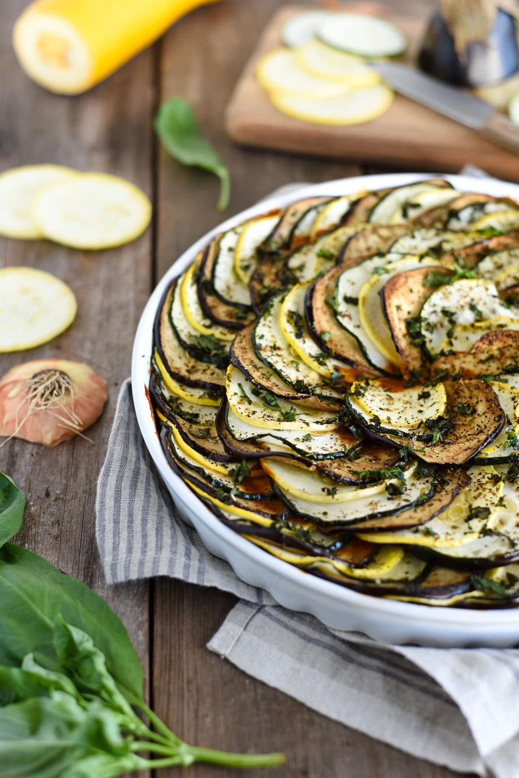 Close up vegetable tian