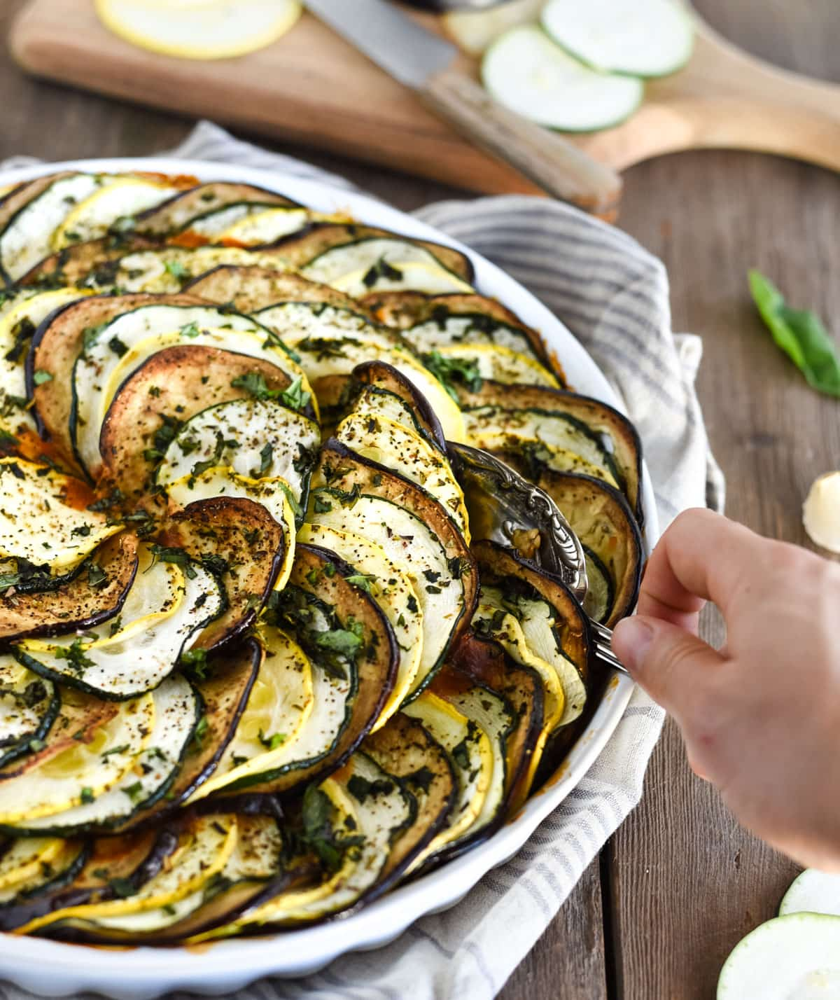 Layered oven ratatouille