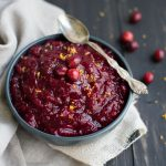 Naturally sweetened honey cranberry sauce