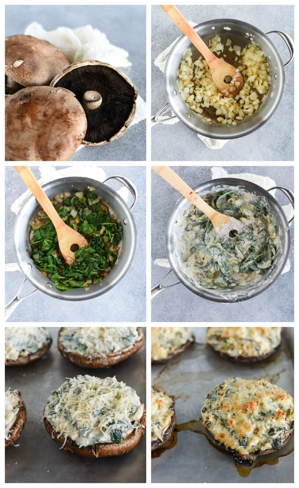 stuffed portobello mushrooms step by step instructions