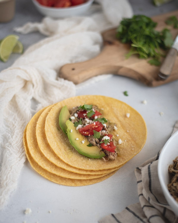 corn tortilla slow cooker cilantro lime chicken taco