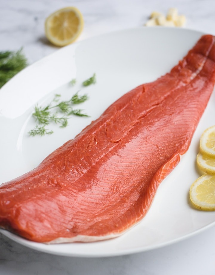 Close up picture of filet of salmon